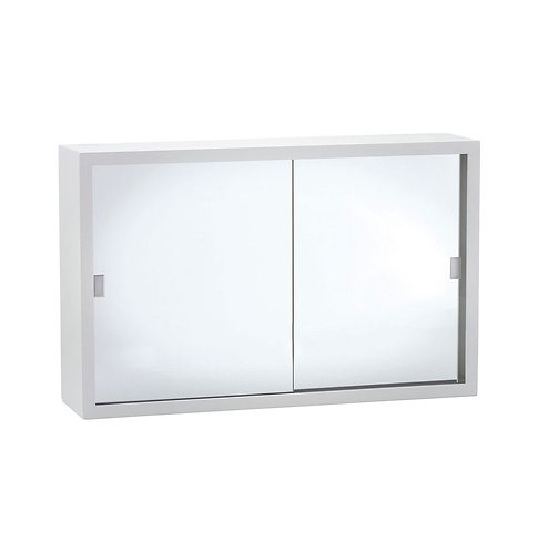 760 Glass Mirror Door Metal Cabinet
