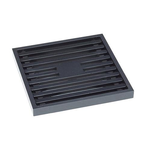 Floor Waste Square Grate, Matte Black, 80mm Outlet