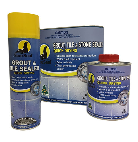 Grout, Tile & Stone Sealer – Quick Drying