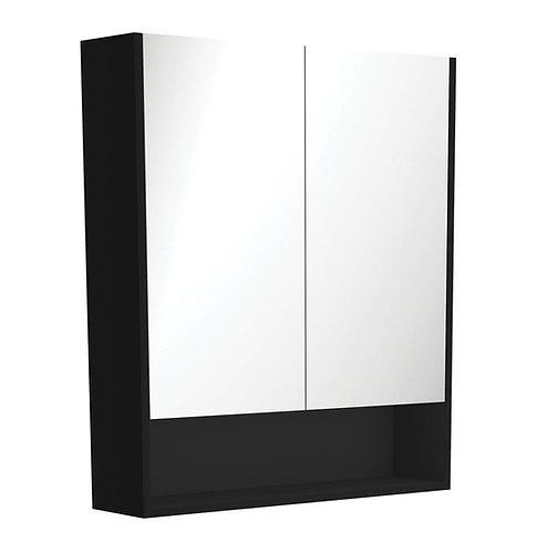 750 Undershelf Mirror Cabinet, Matte Black