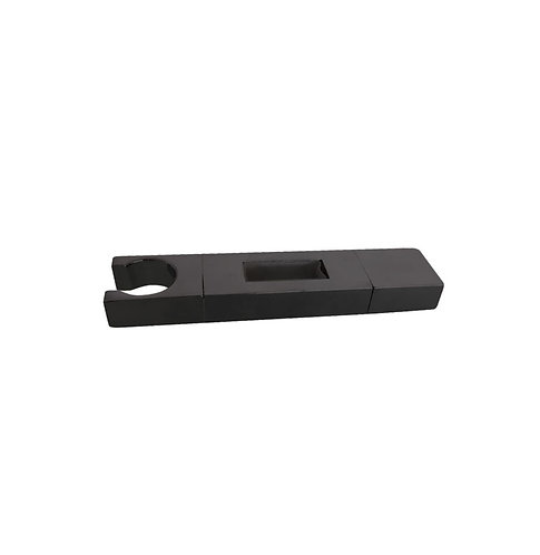 Square Matte Black Slider – to suit 30 x 10mm rail