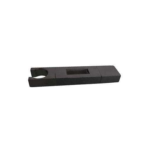 Square Matte Black Slider – to suit 30 x 10mm rail
