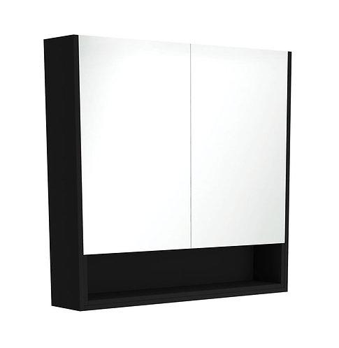 900 Undershelf Mirror Cabinet, Matte Black