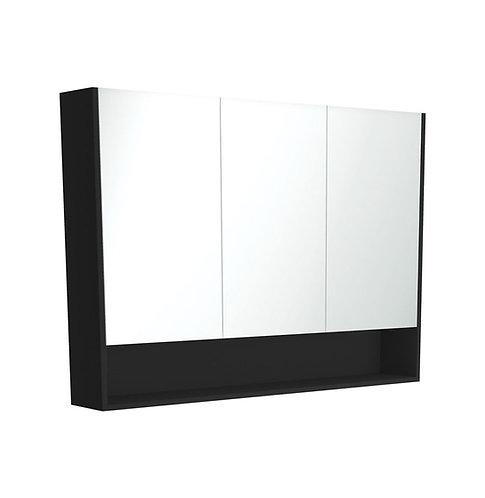 1200 Undershelf Mirror Cabinet, Matte Black