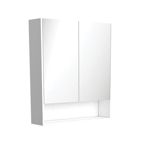 750 Undershelf Mirror Cabinet, Gloss White