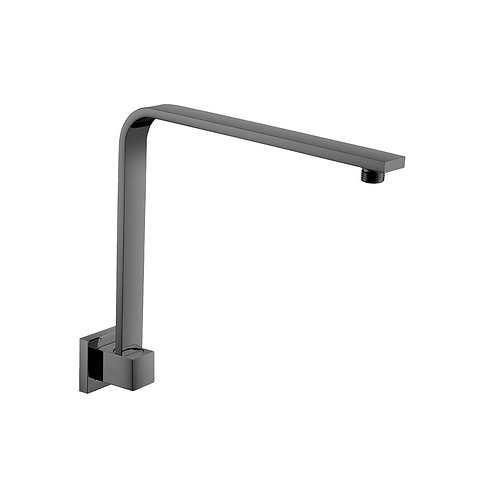 SQUARE Fixed Gooseneck Arm, Matte Black