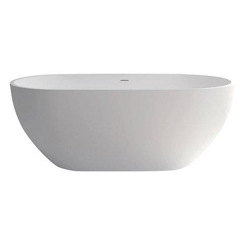 NERO 1550 Matte White Stone Bath
