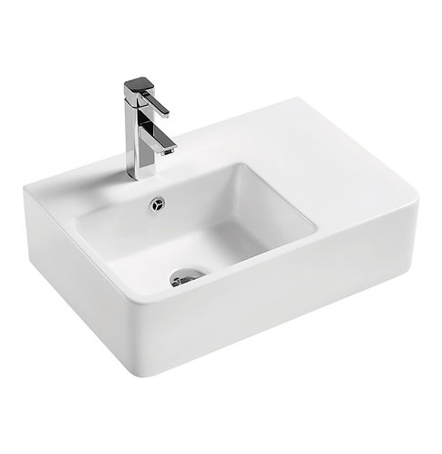 DELTA CARE Left-Hand Wall-Hung Basin