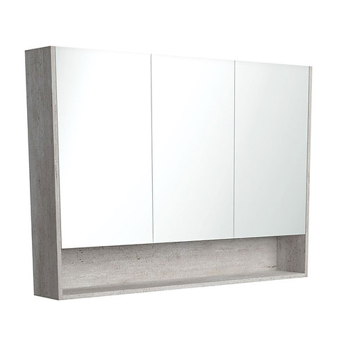 1200 Undershelf Mirror Cabinet, Industrial