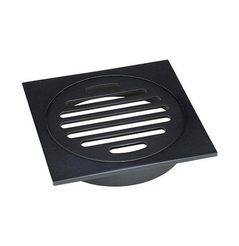 Floor Waste Round Grate, Matte Black, 100mm Outlet