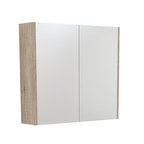 750 Mirror Cabinet with Scandi Oak Side Panels