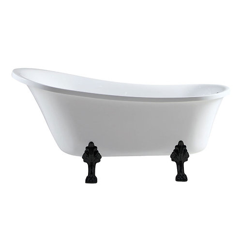 CLAWFOOT Freestanding Acrylic Bath, Matte Black feet