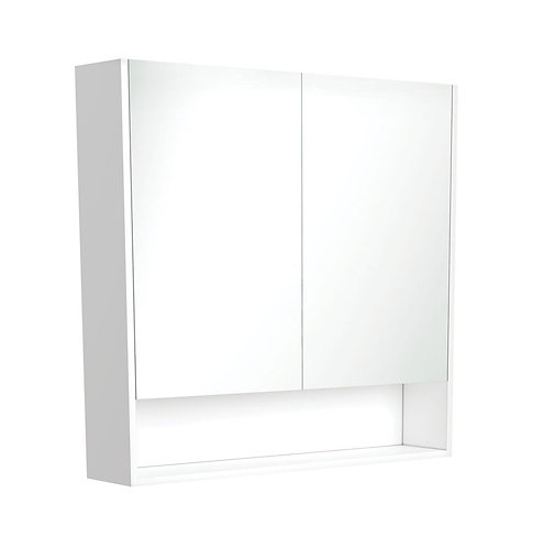 900 Undershelf Mirror Cabinet, Matte White