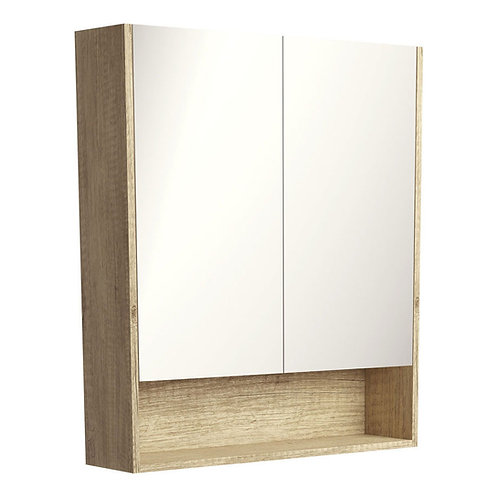 750 Undershelf Mirror Cabinet, Scandi Oak