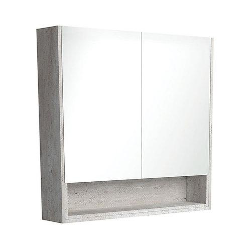 900 Undershelf Mirror Cabinet, Industrial