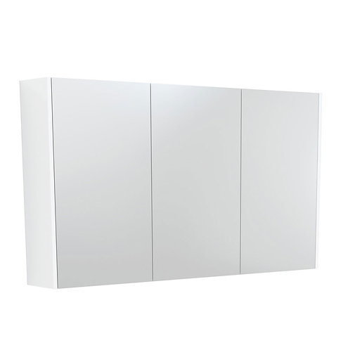 1200 Mirror Cabinet with Gloss White Side Panels