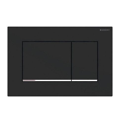 GEBERIT Sigma 30 Matte Black, Rectangular Button Flush Plate