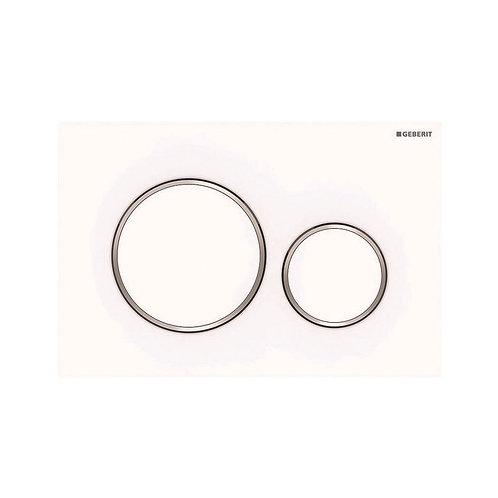GEBERIT Sigma 20 Matte White, Round Button Flush Plate