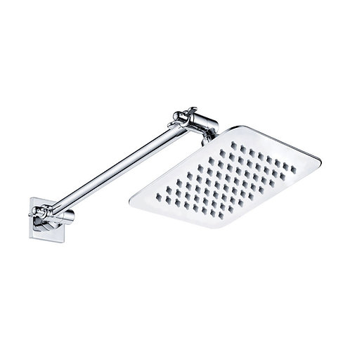 SLICE Square Swivel Arm Wall Shower