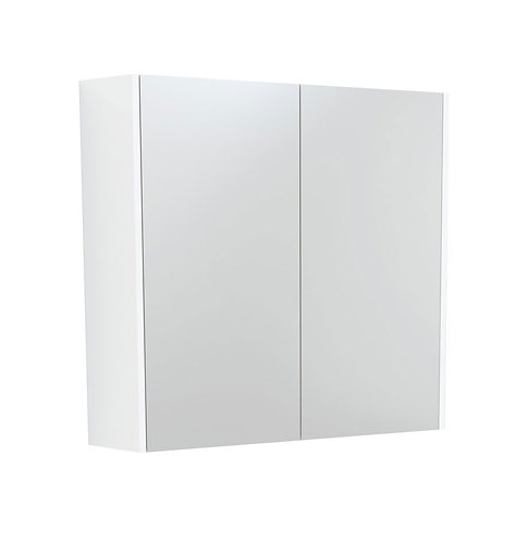 750 Mirror Cabinet with Matte White Side Panels