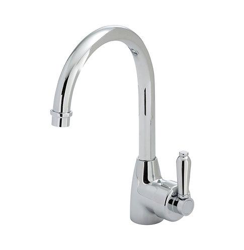 ELEANOR Gooseneck Sink Mixer, Chrome / Chrome