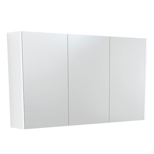1200 Mirror Cabinet with Matte White Side Panels