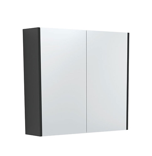 750 Mirror Cabinet with Matte Black Side Panels