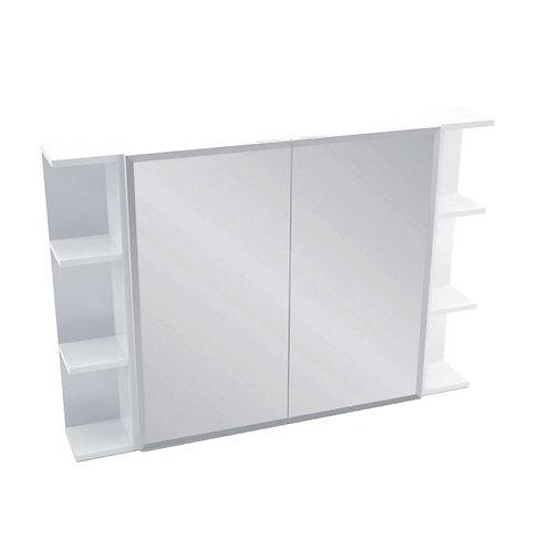 750 Mirror Cabinet, Bevel Edge + 2 Side Shelves