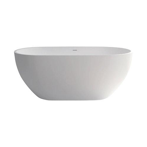 NERO 1400 Matte White Stone Bath