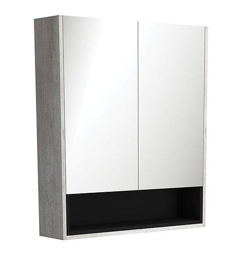 750 Industrial Undershelf Mirror Cabinet, Matte Black Insert