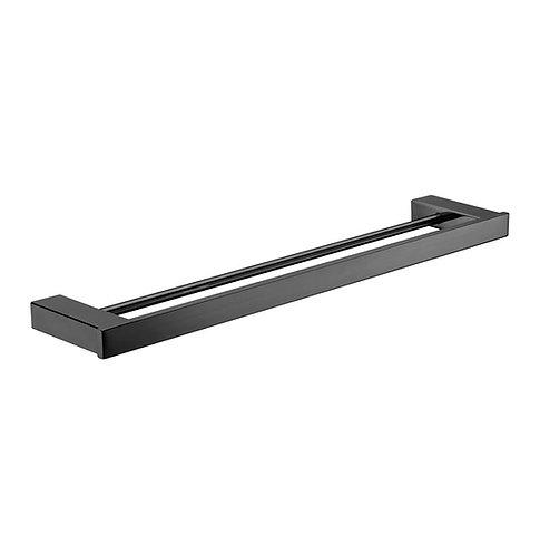 KOKO Matte Black Towel Rail, Double 810