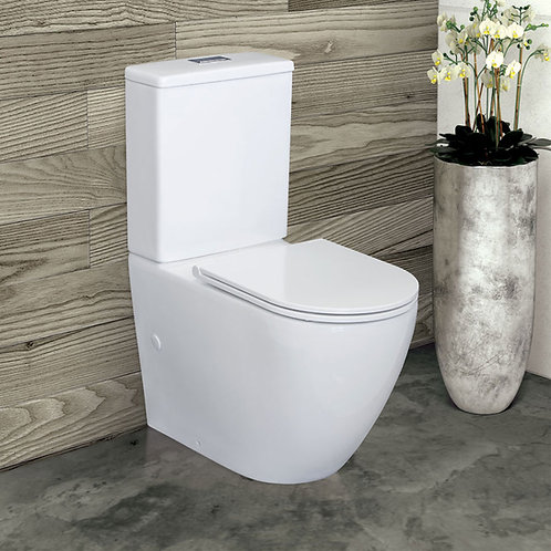 ALIX Rimless Ambulant Back-to-Wall Suite, Slim Seat