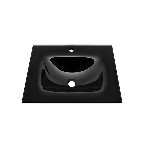 MAMBO Black 600 Tempered Glass Basin-Top