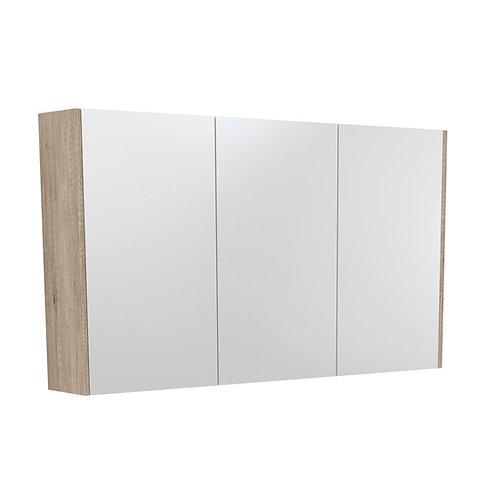 1200 Mirror Cabinet with Scandi Oak Side Panels