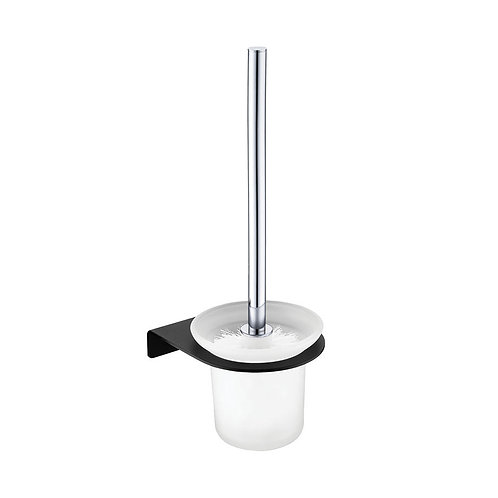 LINCOLN Mixed Finish Toilet Brush & Holder