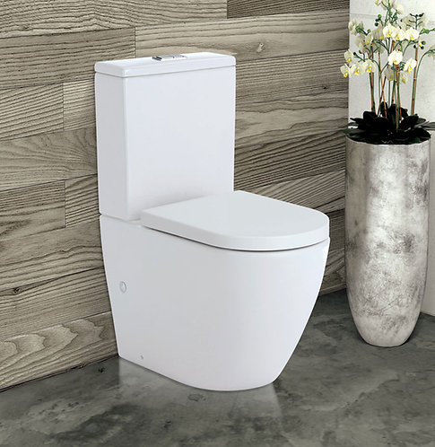 KOKO Rimless Back-to-Wall Suite, Gloss White