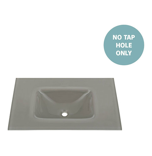 MAMBO Slate 750 Tempered Glass Basin-Top (No Tap Hole)