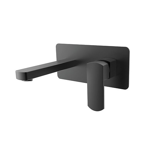 KOKO Matte Black Wall Mixer with Spout