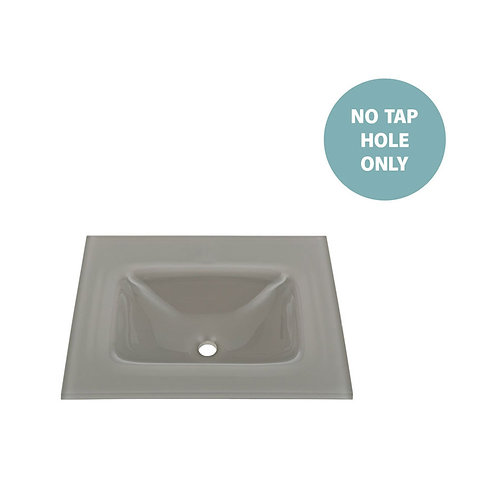 MAMBO Slate 600 Tempered Glass Basin-Top (No Tap Hole)
