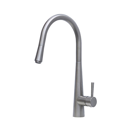 ISABELLA Deluxe Gooseneck Pull-Out Kitchen Mixer, Brushed Nickel