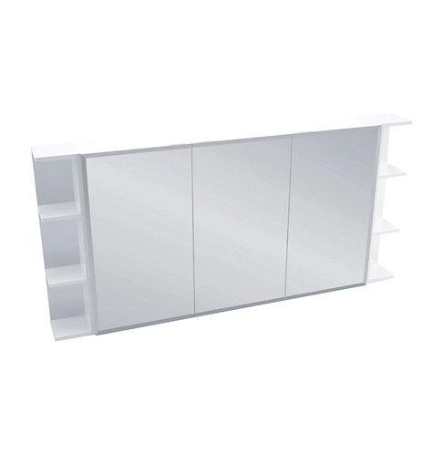 1200 Mirror Cabinet, Bevel Edge + 2 Side Shelves