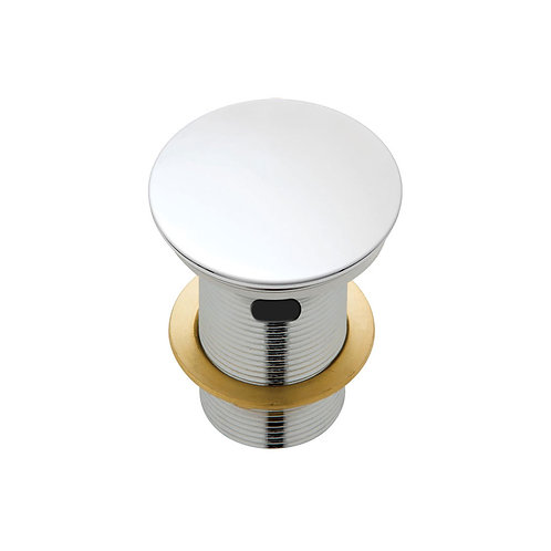 Ceramic Cap Pop-Up Waste, 32mm with Overflow, Matte White
