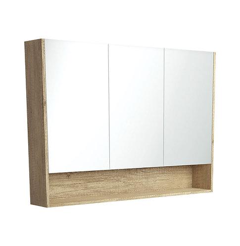 1200 Undershelf Mirror Cabinet, Scandi Oak