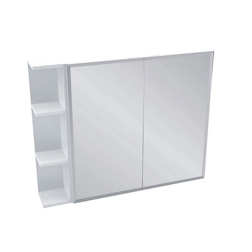 750 Mirror Cabinet, Bevel Edge + 1 Side Shelves