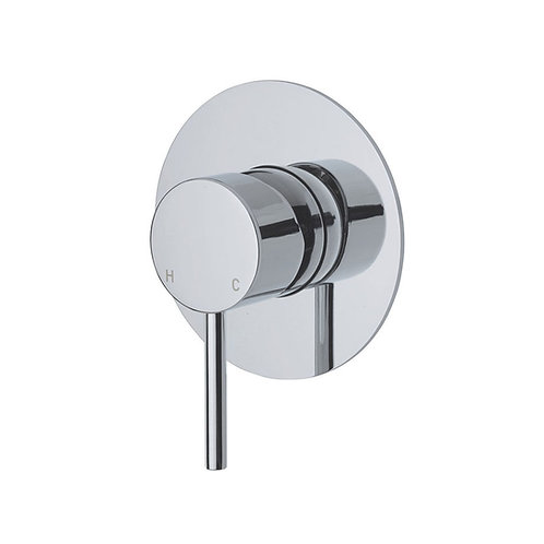 KAYA Wall Mixer, Large Round Plate