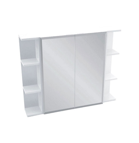 600 Mirror Cabinet, Bevel Edge + 2 Side Shelves
