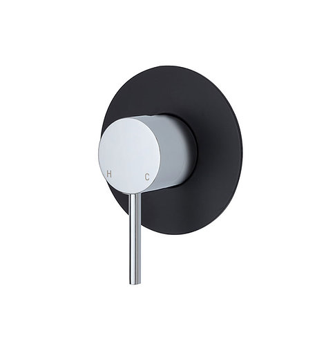 KAYA Wall Mixer, Large Round Matte Black Plate