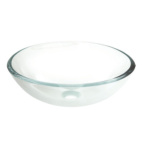 CRYSTAL CLEAR Glass Above Counter Basin