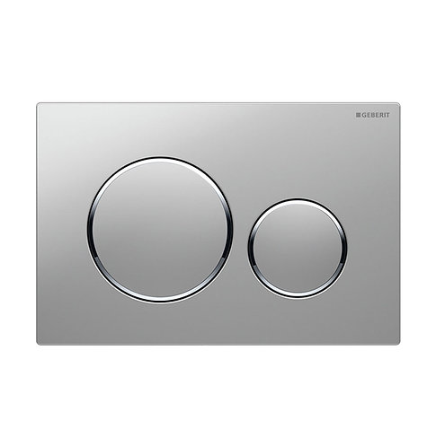 GEBERIT Sigma 20 Matte Chrome, Round Button Flush Plate