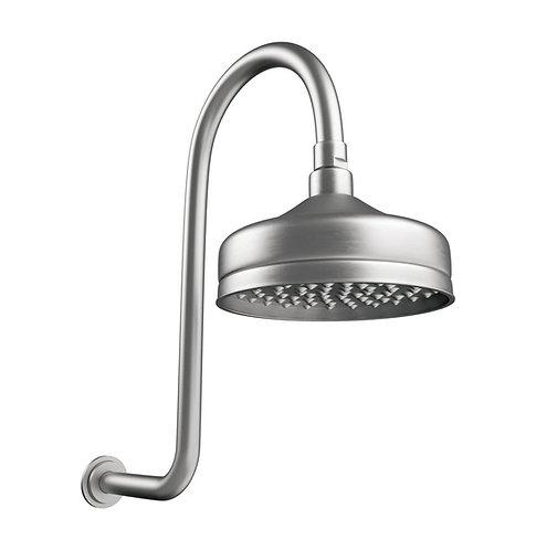 LILLIAN Wall Arm Shower Set, Brushed Nickel